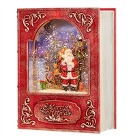 "RAZ Imports - 8.5"" Santa Lighted Water Book"