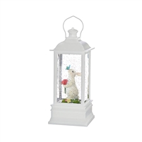 "RAZ Imports - 9"" Rabbit With Butterfly Lighted Water Lantern"