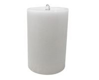 "AquaFlame Color Changing LED Wax Pillar Candle Water Fountain - White Wax - Aromatherapy & Essential Oils - 5.28"" x 7.98"" - Remote Control"