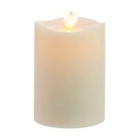 "Matchless - Moving Flame LED Candle - Indoor - Wax - Ivory - Vanilla Honey Scent - Remote Ready - 3.5"" x 5"""