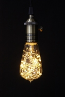 "The Light Garden - Decorative LED Bulb - Vintage ST18 Bulb Shape - Indoor/Outdoor - 30 LED String Lights - 1W - 110-240VAC - 2K Color Temperature - Standard E26 Screw Base - 2.25"" x 5"" - Non-Dimmable"