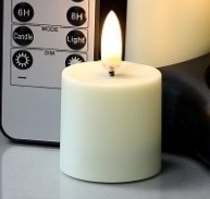 Radiance - 4 Rechargeable Tealight Votives (Votives Only) - Realistic LED Flame Effect - Indoor - Unscented - Remote Ready