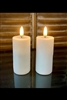 "Radiance - By The Light Garden - Pair of 1.5"" x 4.25"" Votives - Realistic LED Flame Effect - Indoor - Unscented Ivory ABS Plastic - Remote Ready"