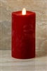 "LightLi by Liown - Moving Flame - Flameless LED Smart Candle - Chalky Red Wax - Remote Ready - Betooth App Ready - 3.5"" x 7"""