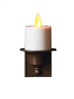 Mystique by Liown Moving Flame - Automatic Flameless LED Tealight Plug-In Night Light - Indoor - Ivory & Brown ABS