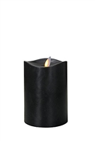 "Mystique 360-Degrees - Flameless LED Candle - Indoor - Wax - Black - 3.25"" x 5"""