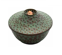 "Aqua Torch - LED Light-Up Table-Top Water Fountain - Indoor/Outdoor - 4.75"" x 7.25"" - Patina"