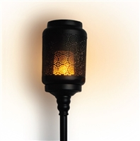 The Boston Warehouse - The Wildfire Digital LED Flame Garden Torch Lantern with Stand - Black Metal Construction - Rechargeable - Outdoor - Remote Ready