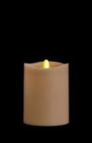 "Matrixflame - Flickering Digital Flameless LED Candle - Indoor - Autumn Wood Scented - Sand Colored Wax - Remote Ready - 3.5"" x 5"""