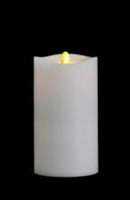 "Matrixflame - Flickering Digital Flameless LED Candle - Indoor - Unscented White Wax - Remote Ready - 3.5"" x 7"""