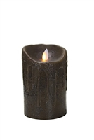 "Mystique - Flameless LED Candle - Indoor - Wax - Primitive Walnut - 3.5"" x 5"""