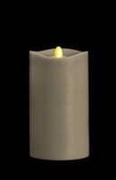 "Matrixflame - Flickering Digital Flameless LED Candle - Indoor - Coconut Scented - Slate Colored Wax - Remote Ready - 3.5"" x 7"""