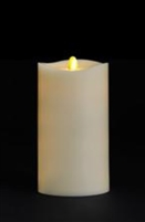 "Matrixflame - Flickering Digital Flameless LED Candle - Indoor - Vanilla Scented - Ivory Wax - Remote Ready - 3.5"" x 7"""