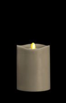 "Matrixflame - Flickering Digital Flameless LED Candle - Indoor - Coconut Scented - Slate Colored Wax - Remote Ready - 3.5"" x 5"""