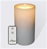 "AquaFlame - Flameless LED Candle Fountain - White Resin - Outdoor Safe - 4.2"" x 7.8"" - Remote Control"