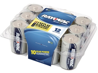 Rayovac - D - 1.5V - Ready Power Alkaline Battery - 12-Pack