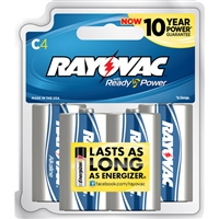 Rayovac - C - 1.5V - Ready Power Alkaline Battery - 4-Pack