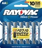Rayovac - AA - 1.5V - Advanced High Energy Alkaline Battery - 6-Pack