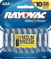 Rayovac - AAA - 1.5V - Ready Power Alkaline Battery - 12-Pack