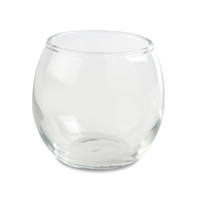 "Tealight or Votive Candle Cup Holder - Clear Glass Bubble Ball - 3.8"" x 3.6"""