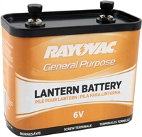 Rayovac - 6V - General Purpose Lantern Battery - Screw Terminals