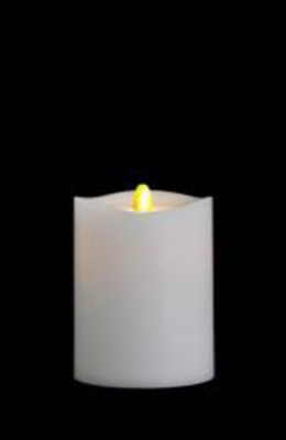 "Matrixflame - Flickering Digital Flameless LED Candle - Indoor - Unscented White Wax - Remote Ready - 3.5"" x 5"""