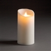 "LightLi by Liown - Moving Flame - Flameless LED Candle - Outdoor - Ivory ABS Plastic - Remote Ready - 3.5"" x 7"""