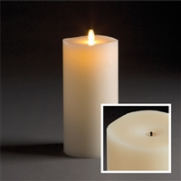 "LightLi by Liown - Wick-to-Flame - Moving Flame - Flameless LED Candle - Indoor - Ivory Paraffin Wax - Remote Ready - 4"" x 9"""