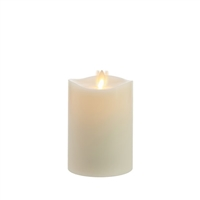"Matchless - Moving Flame LED Candle - Indoor - Wax - Ivory - Vanilla Honey Scent - Remote Ready - 3.5"" x 5.5"""