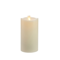 "Matchless - Moving Flame LED Candle - Indoor - Wax - Ivory - Vanilla Honey Scent - Remote Ready - 3.5"" x 7.5"""