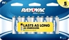 Rayovac - 9V - Ready Power Alkaline Battery - 5-Pack