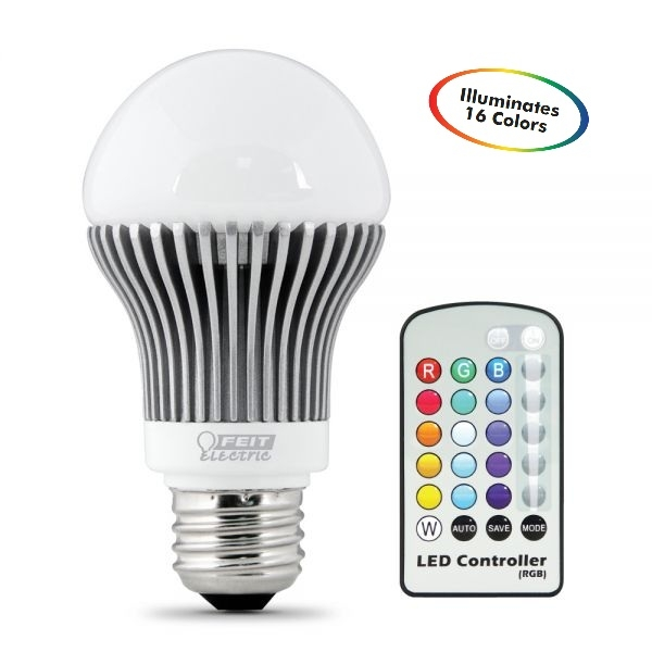 Feit Electric - LED Bulb - A19 - Remote Control -Color Changing ...