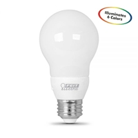 Feit Electric - LED Bulb - A19 - Color Changing - White/Red/Green/Blue -  Non-Dimmable