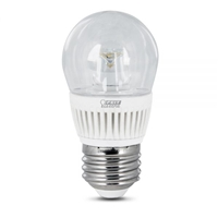 Feit Electric - LED Bulb - A15 Clear - 40W Equivalent - 3000K Warm White - 300 Lumens - Dimmable