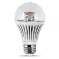Feit Electric - LED Bulb - A19 Clear - 40W Equivalent - 3000K Warm White - 500 Lumens - Dimmable