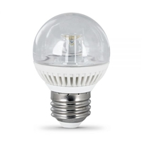 Feit Electric - LED Bulb - G16 Clear Globe - 40W Equivalent - 3000K Warm White - 300 Lumens - Dimmable
