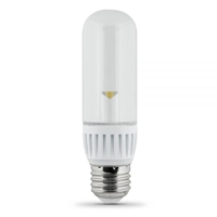 Feit Electric - LED Bulb - T10 Clear Tubular - 25W Equivalent - 3000K Warm White - 200 Lumens - Non-Dimmable