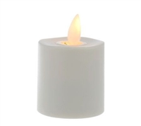 Luminara - Additional Rechargeable Flameless LED Tealight - Ivory ABS - Works With Luminara Charging Bases - Remote Capable