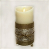 Flameless Candle Cuff - Gold Mesh Ribbon - Biblical Names of Jesus - For 3.5-Inch x 7-Inch Flameless Candles