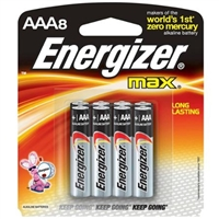 Energizer MAX - AAA - 1.5V - Alkaline Battery - 8-Pack
