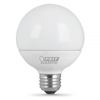 Feit Electric - LED Bulb - G25 Globe - 40W Equivalent - 3000K Warm White - 510 Lumens - Dimmable