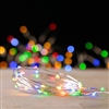 RAZ Imports - 20' Battery Operated Micro-LED String Light Garland - 80 Multi-Colored Micro-LEDs on Silver Wire - 3 x AA Batteries - Remote Ready