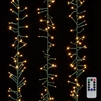 RAZ Imports - 10' LED Cluster Light Garland + Remote - 300 Warm White LEDs on Green Wire