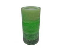 "Gift Essentials - Wax LED Candle Fountain - Green Wax - 3.5"" x 7.25"" - Remote Control"