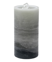 "Gift Essentials - Wax LED Candle Fountain - Grey Wax - 3.5"" x 7.25"" - Remote Control"