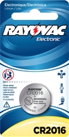 Rayovac -  CR2016 - 3.0V - Lithium Button Battery - 1-Pack