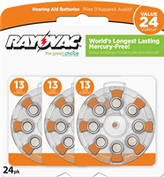 Rayovac -  Size 13 - 1.45V - Zinc-Air Hearing Aid Battery - 24-Pack