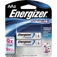 Energizer - AA - 1.5V - Ultimate Lithium Battery - 2-Pack