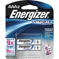 Energizer - AAA - 1.5V - Ultimate Lithium Battery - 2-Pack