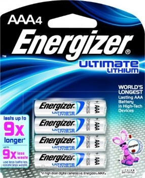 Energizer - AAA - 1.5V - Ultimate Lithium Battery - 4-Pack